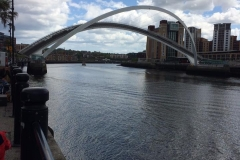 Millenium Bridge, Gateshead, next to the exhibition hall at the Baltic.